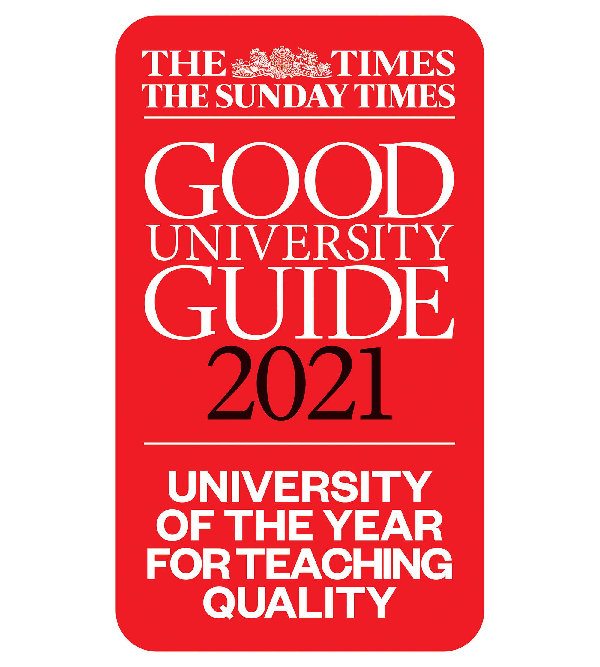 Abertay University is The Times and Sunday Times University of the Year for Teaching Quality